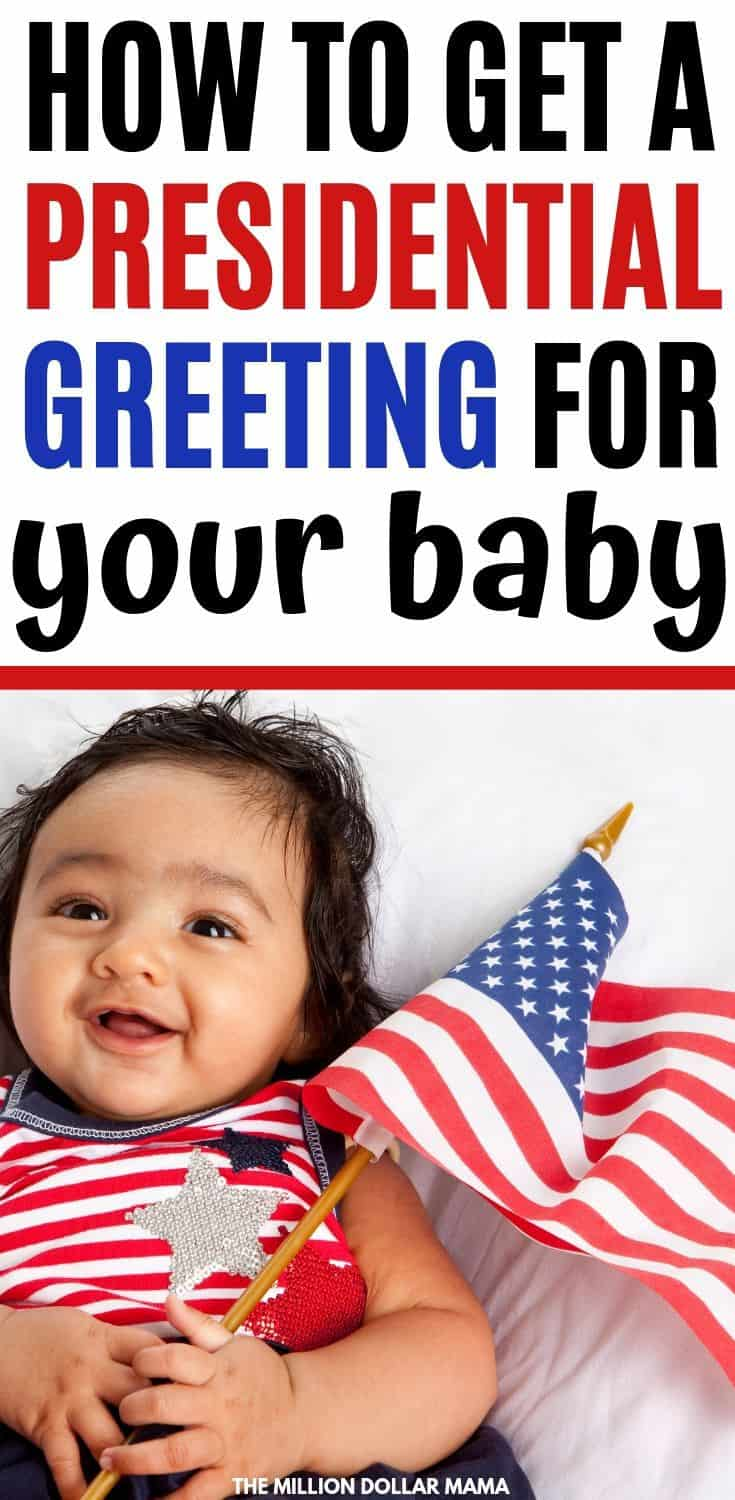 How to Get a Presidential Greeting for Your Baby - This is such a great new baby keepsake! Regardless of your political affiliation, a letter from the President for your baby is a pretty cool thing to put in your memory box!