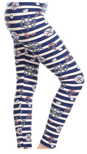 Nautical Print Leggings