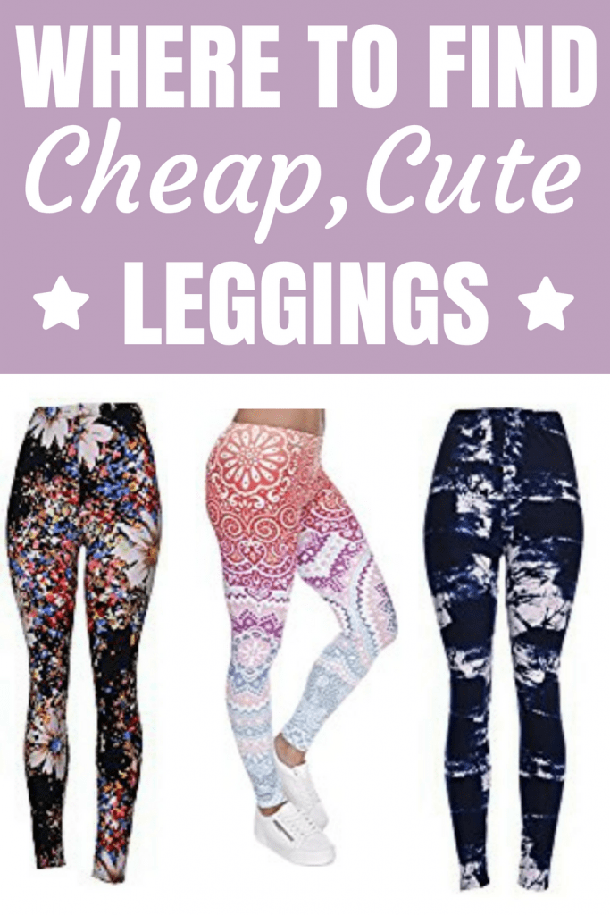 These are the best cheap leggings for women that I've ever found. They have super cute designs, the material is so soft and they're so cheap. The quality is way better than Lularoe too.
