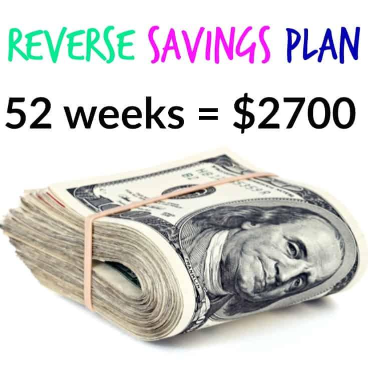 Reverse Savings Plan – Save $2700 This Year