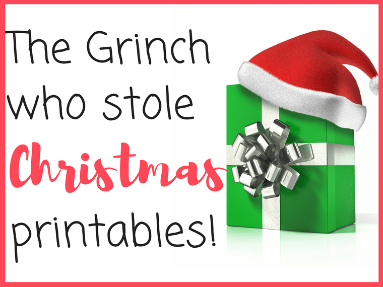 the grinch printables