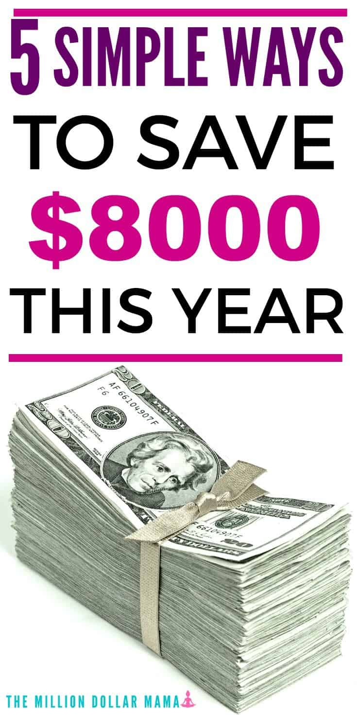 Easy ways to save money! If you're looking for easy ways to save money around the house, then check out these 5 simple steps that can help you save over $8000 this year.