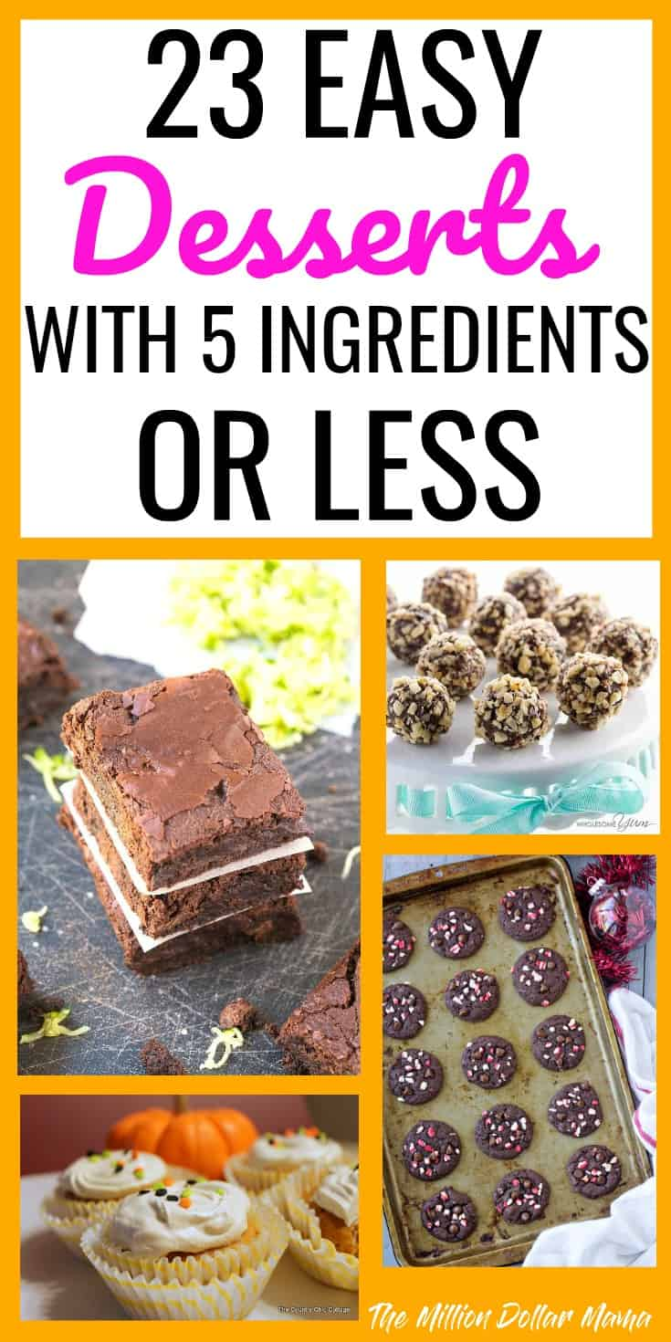 23 Easy Desserts With 5 Ingredients or Less