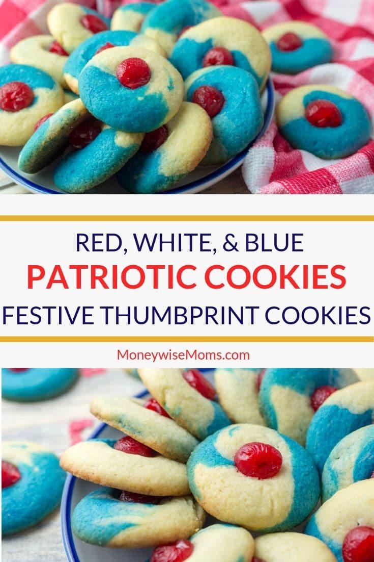 patriotic thumb print cookies