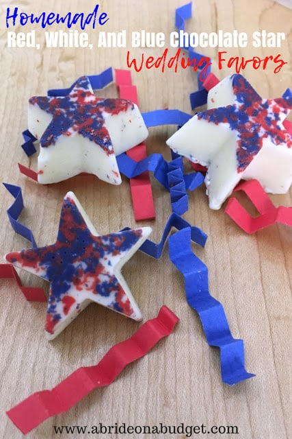red white and blue chocolate stars
