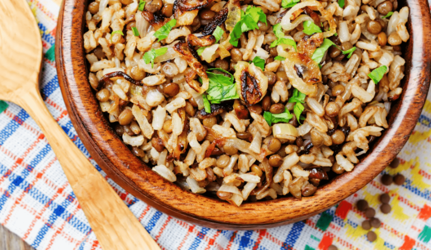 Easy Mujadara Recipe – Arabic Lentils and Rice
