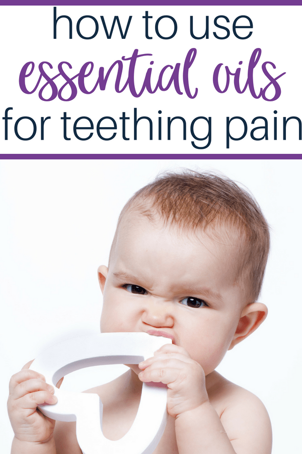How to use essential oils to help with teething pain. These natural teething remedies work well for babies and toddlers alike. #teethingbaby #teethingremedies