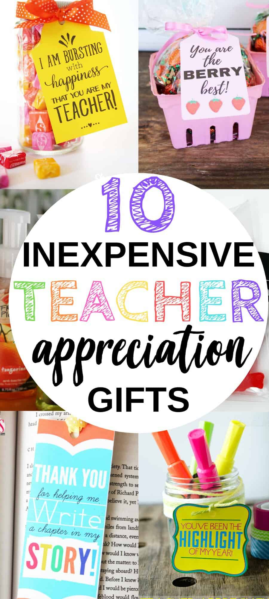 These Inexpensive Teacher Appreciation Gift Ideas Are A Creative, Cheap, DIY Way to Show Your Favorite Teacher How Appreciative You Are!
