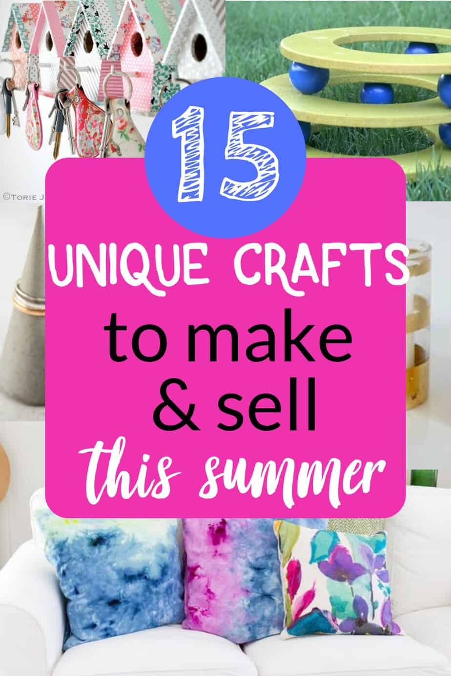 If you want to make some extra money and love being creative then you'll love these 15 unique crafts to make and sell this summer (plus some ideas of how and where to sell your creations)