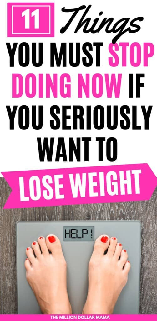 Struggling to lose weight? You might be sabotaging your efforts if you're doing some of these common weight loss mistakes. #weightlosstips #loseweight #weightloss #weightlossmotivation