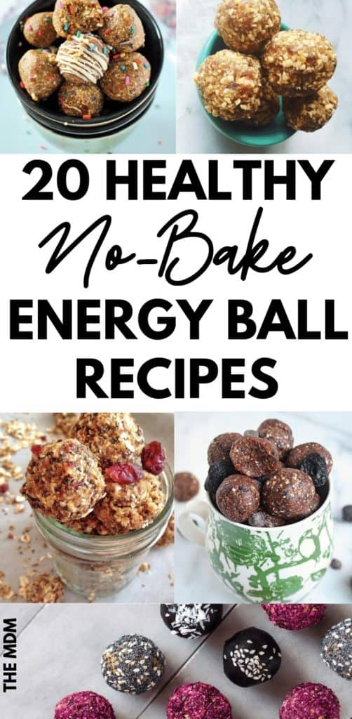 20 Healthy No Bake Energy Balls That  Taste Delicious and Are Easy to Make #nobakeenergyballs #healthysnacks #energyballs #energybites