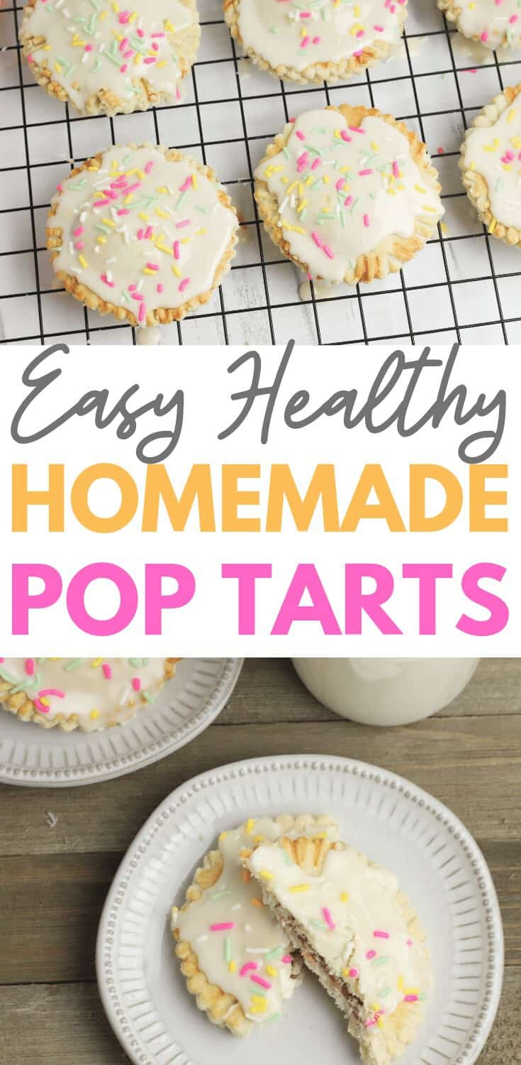 Homemade pop tarts are one of life's simple pleasures - especially when they're warm out of the oven. These healthy homemade strawberry pop tarts are easy to make and taste delicious - the perfect breakfast treat. #homemadepoptarts #strawberrypoptarts #easyhomemadepoptarts