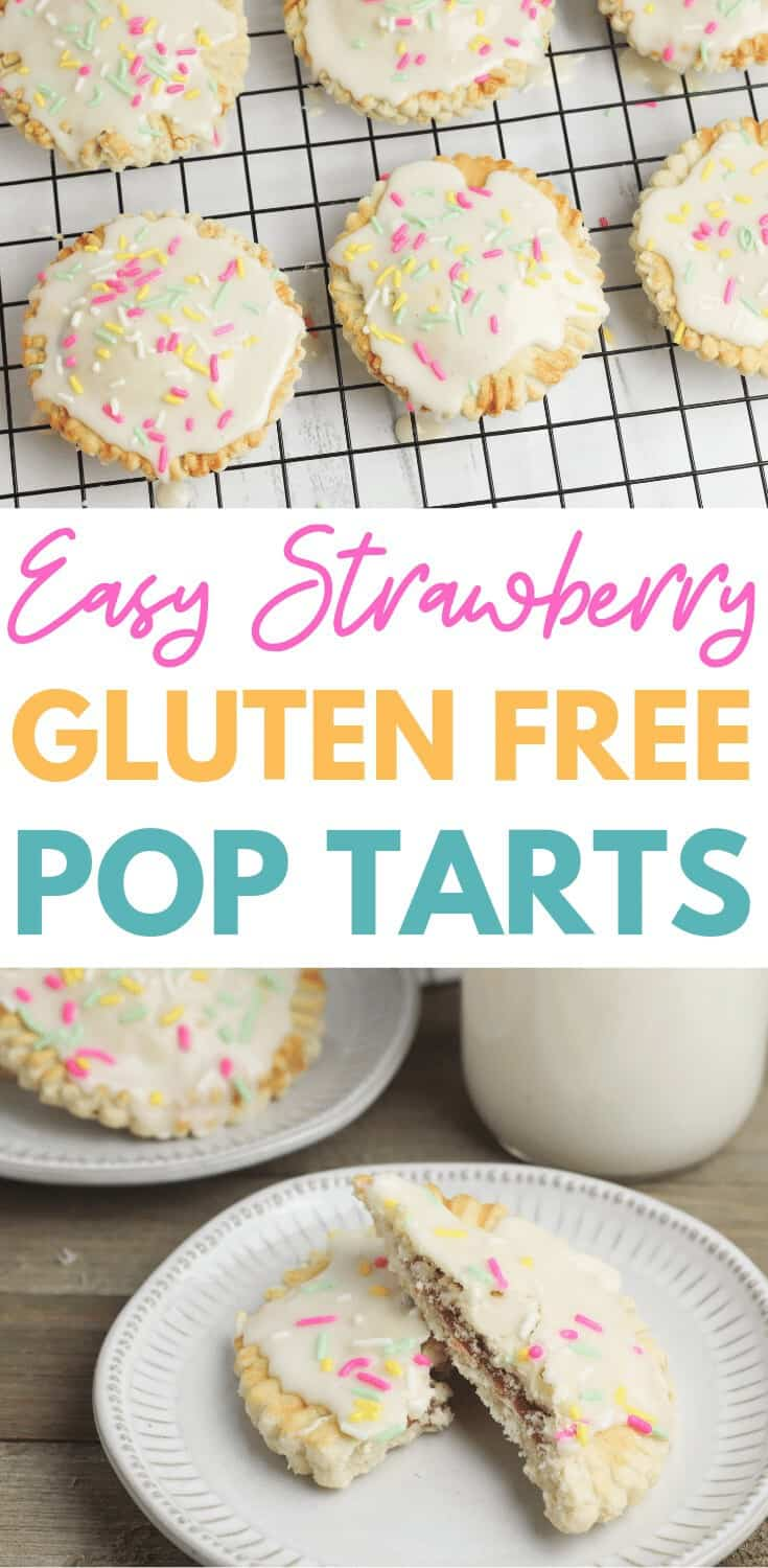 Easy Gluten Free Pop Tarts - These gluten free strawberry pop tarts are an easy healthy recipe to make at home for tasty breakfast treat. #homemadepoptarts #glutenfreepoptarts #glutenfree