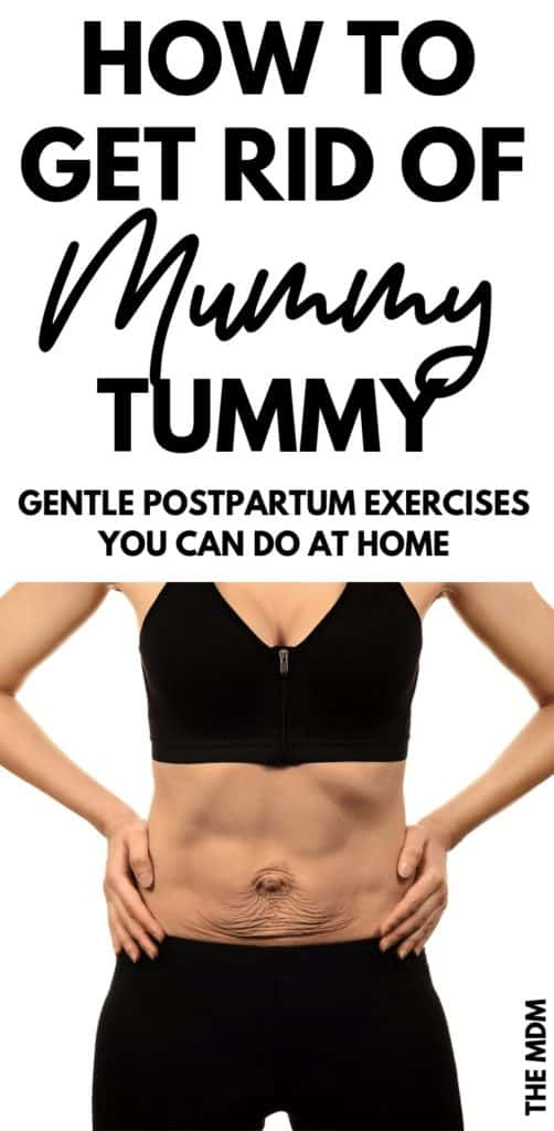 How to Get Rid of Mummy Tummy - Gentle Postpartum Exercises You Can Do To Get Rid of Mom Pooch and Heal Diastasis Recit
