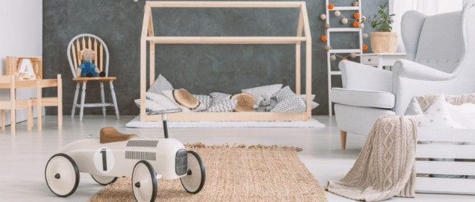 scandinavian kids room