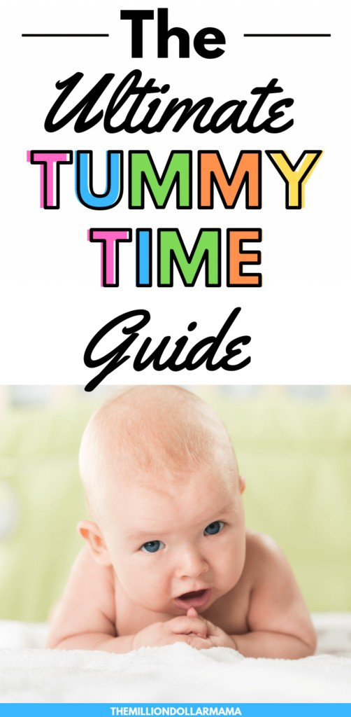 The Ultimate Guide to Tummy Time for Parents of Young Babies. #tummytime #newparenttips