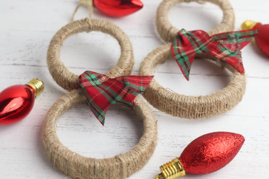 Jute Snowman Ornaments DIY Tutorial