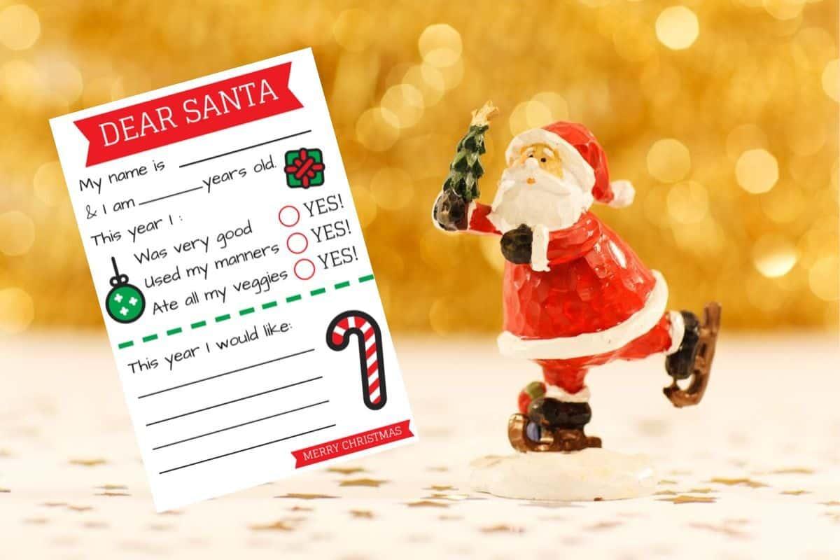 Free Letter To Santa Template Pdf