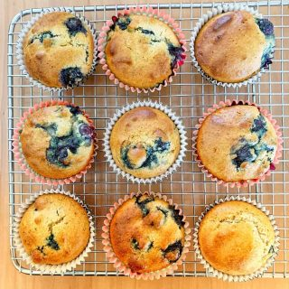 Amond Meal Blueberry Muffins
