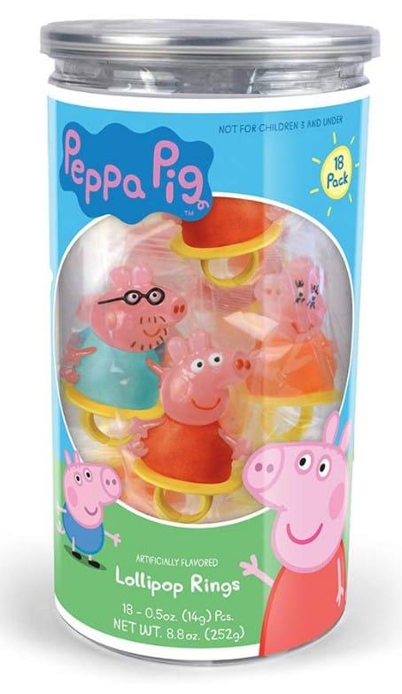 peppa pig ring lollipops