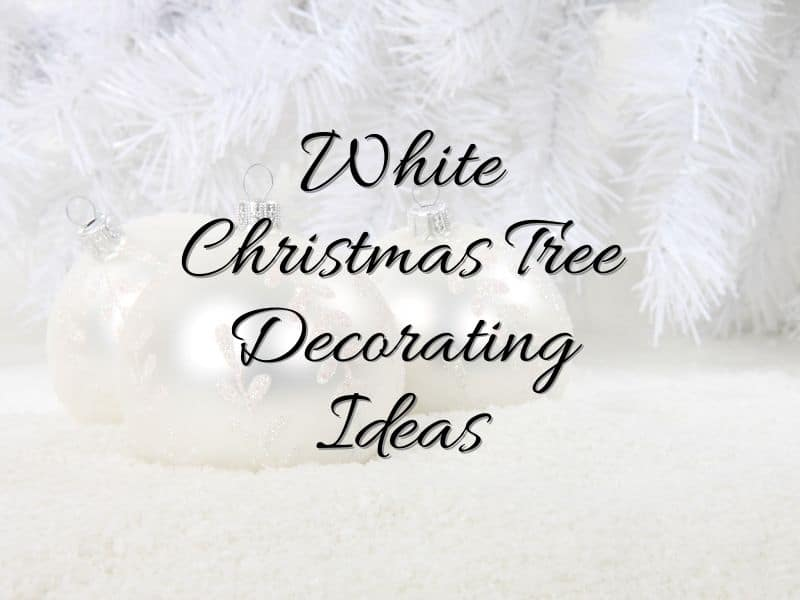 white ornaments against a white background with text overlay
