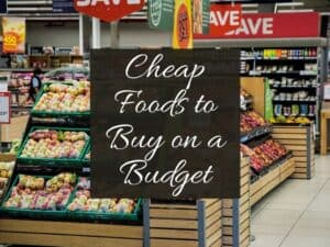 a stand of produce in a store with text overlay