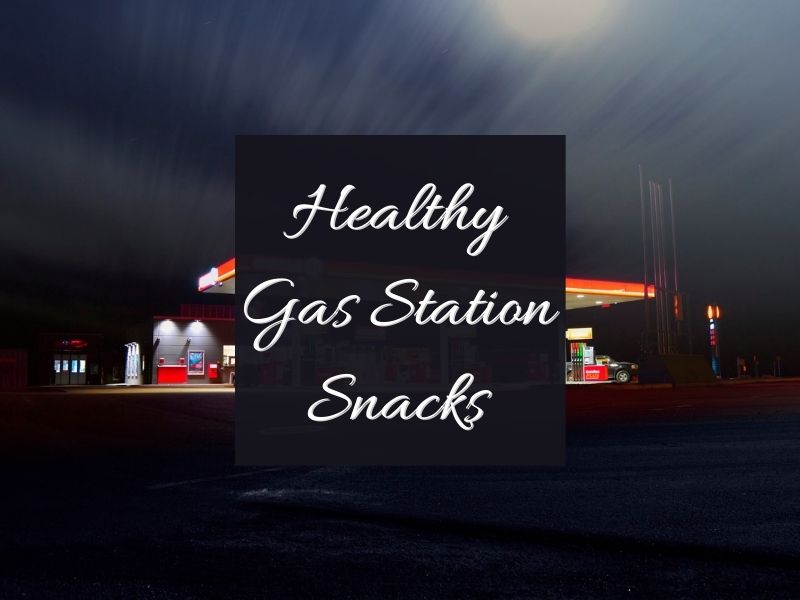 gas station in the dark with text overlay