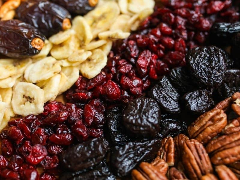 photos of rows of dried fruit