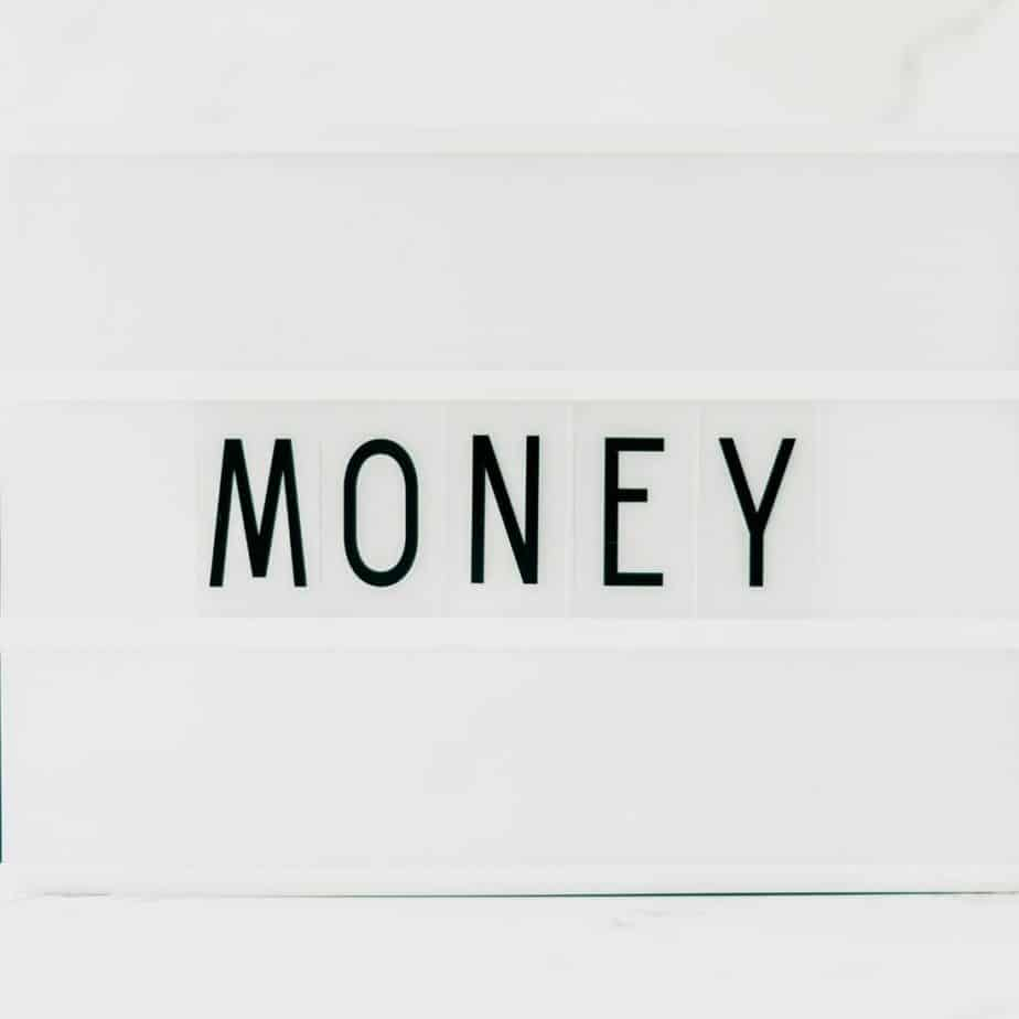 """a sign that says """"money"""""""