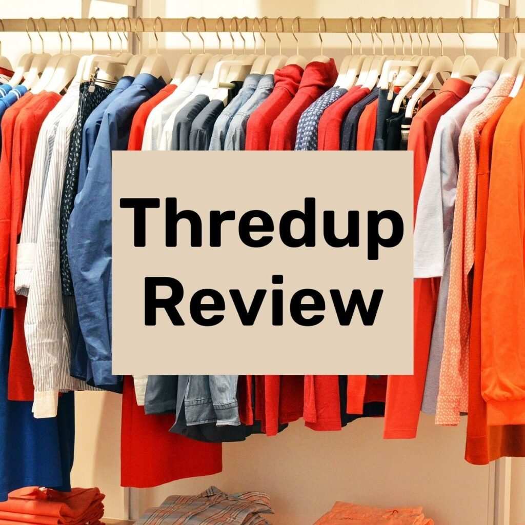 clothes hanging up on a rack with text overlay